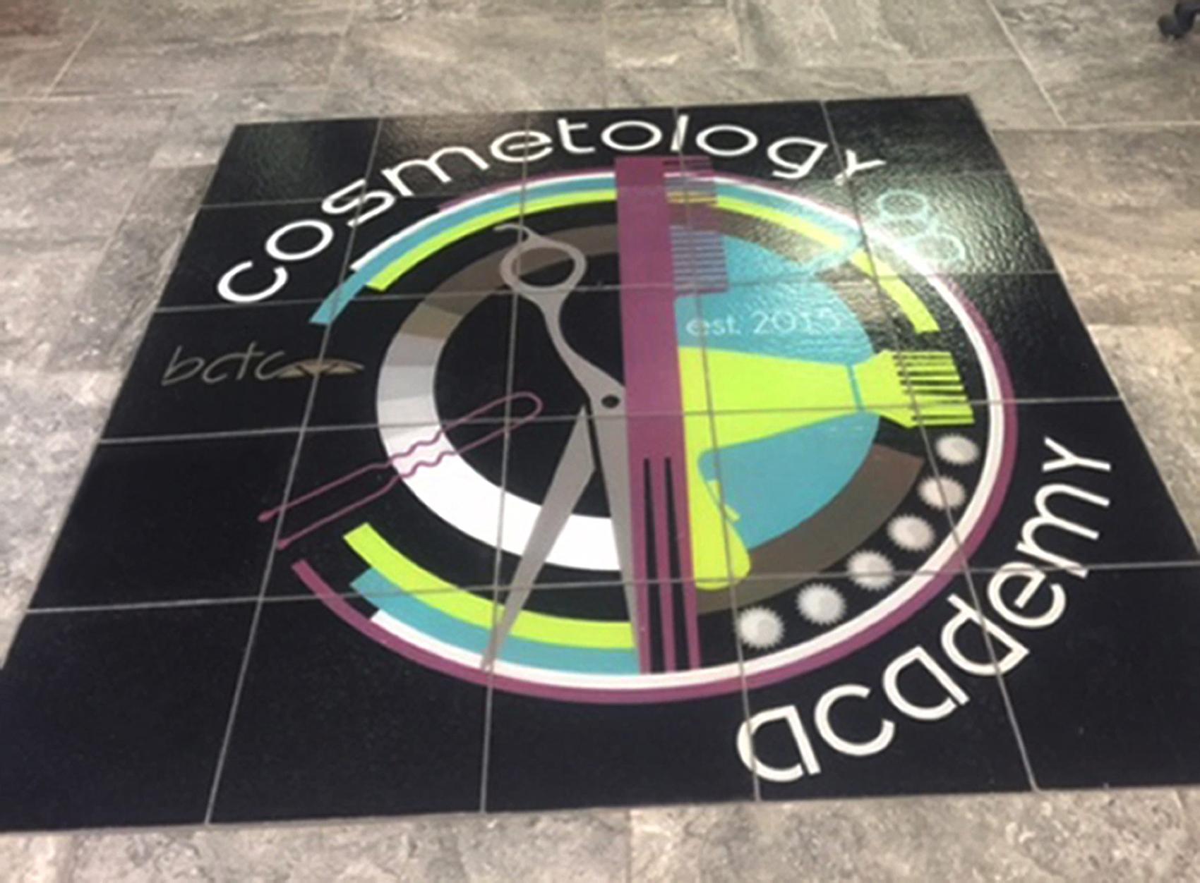 Cosmetology Glass Floor Installation