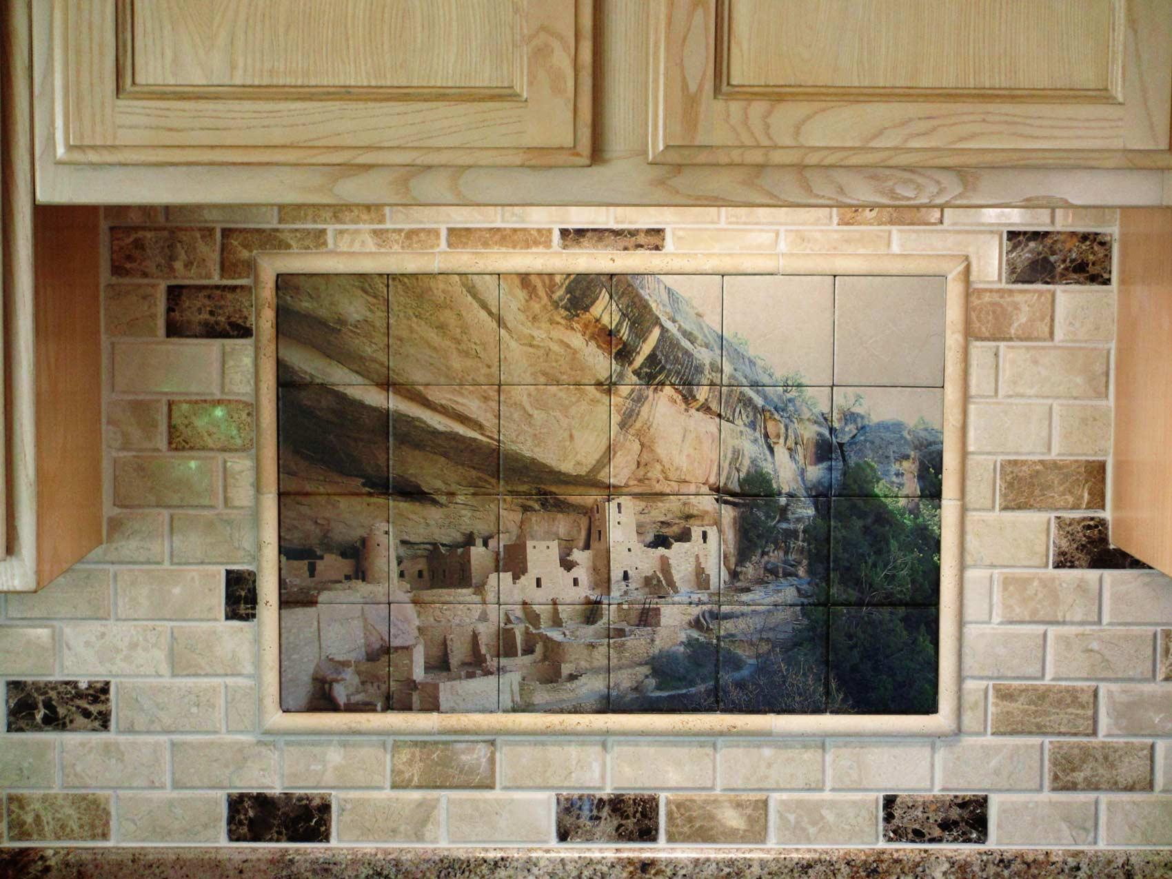 Mesa Verde Kitchen Backsplash Tile Mural