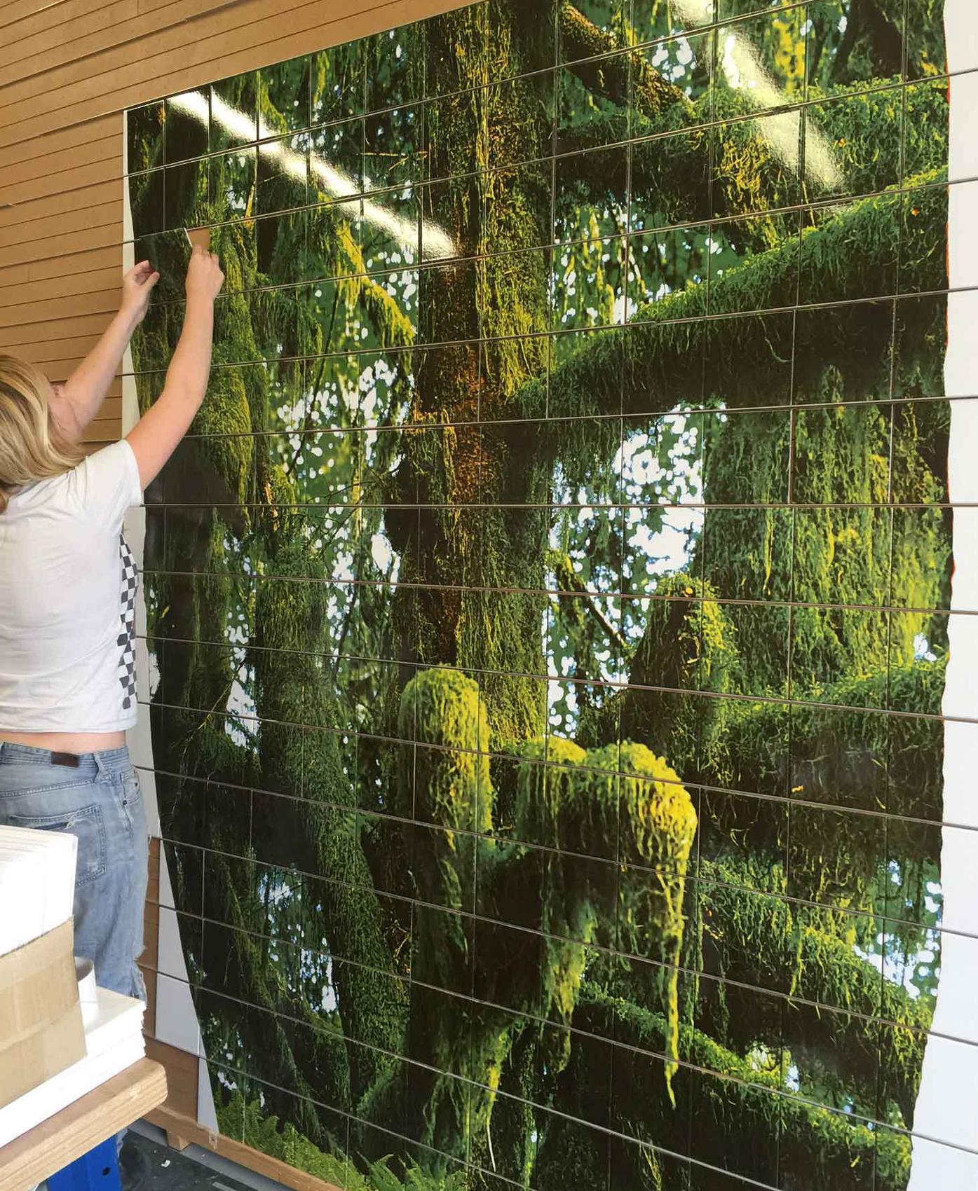 Outdoor Public Art Custom Tile Mural Layout