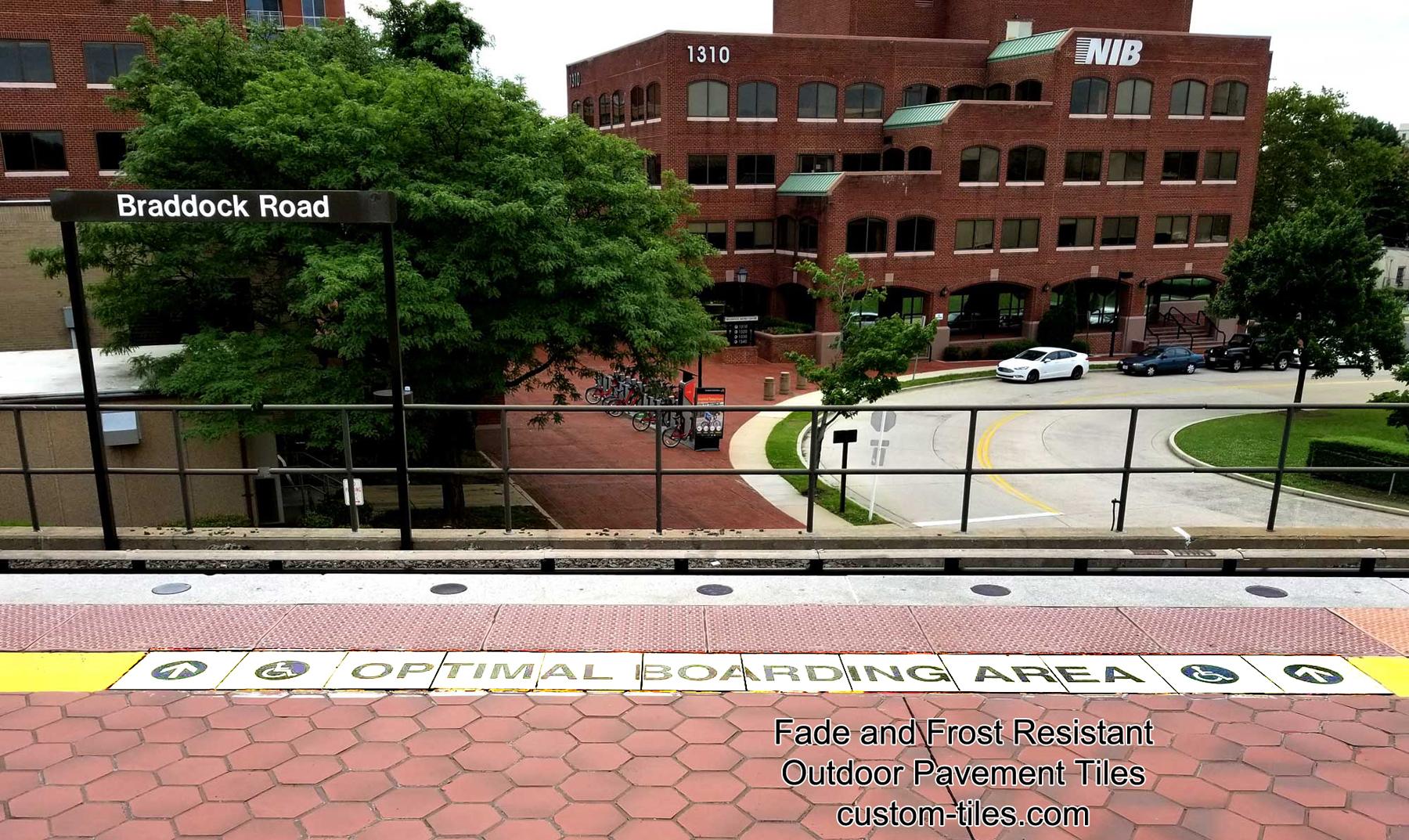Transit Platform Safety Marking Tiles