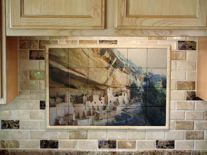 Kitchen Backsplash Tile Mural Mesa Verde