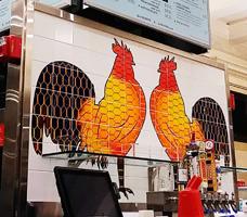 Custom Ceramic Tile Mural Backsplash NYC Grand Central Restaurant