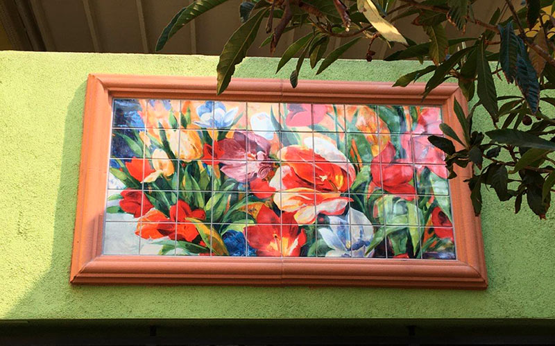Flower Bouquet Outdoor Tile Mural