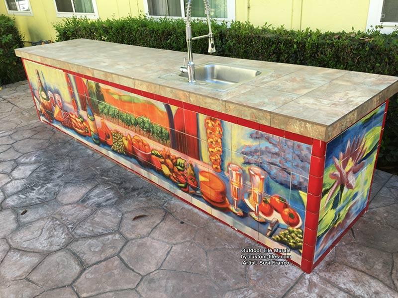 Outdoor Kitchen Tile Murals