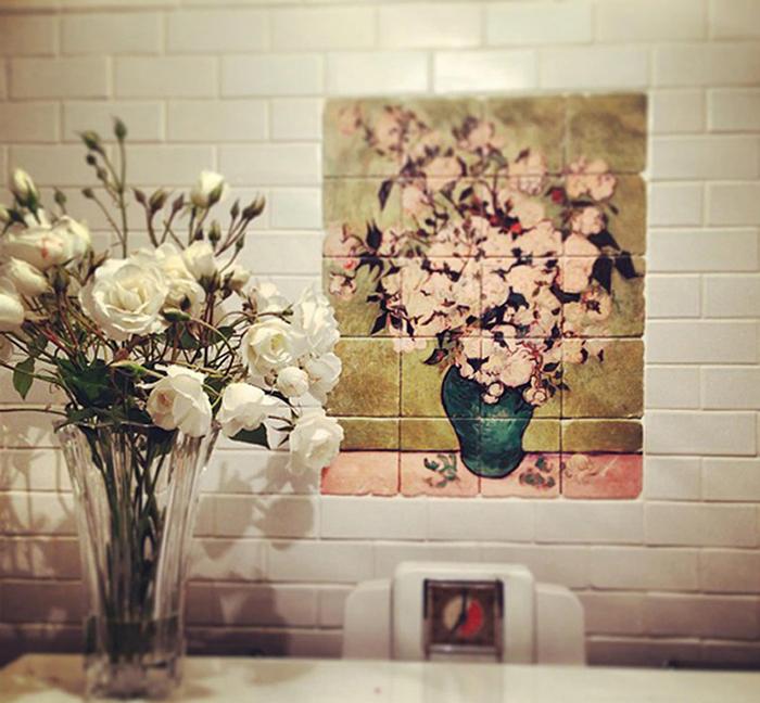 Kitchen Backsplash Tile Mural Van Gogh
