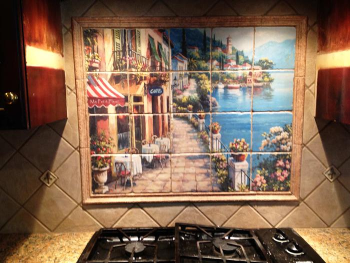 Kitchen Tile Tumbled Tile Mural Idea
