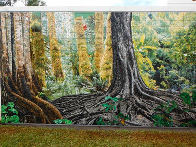 Outdoor Tile Mural Embassy in Brazil