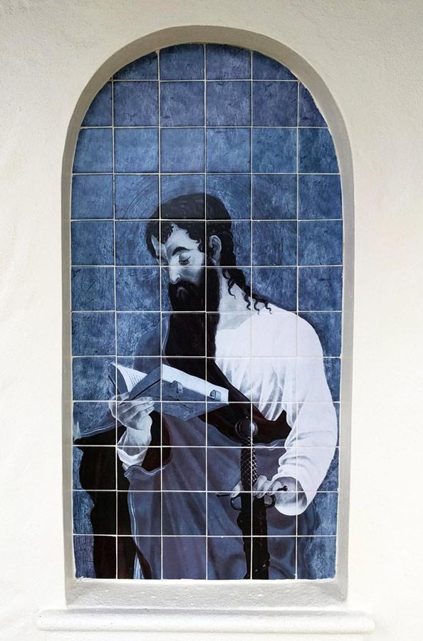 Saint Paul Outdoor Tile Mural Florida