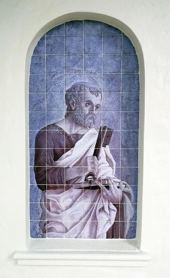 Saint Peter Outdoor Tile Mural Florida